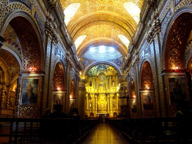 Interior de la Iglesia de la Compañia