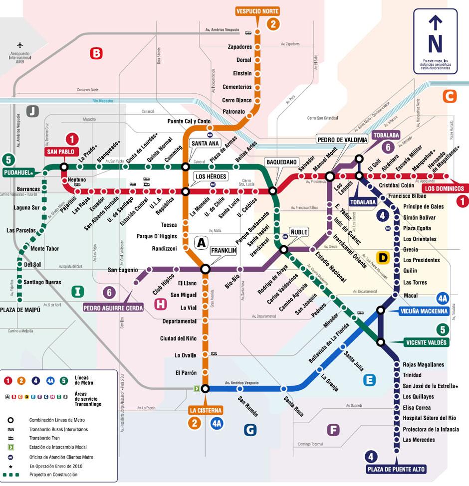 Metro de santiago de chile lo m o es viajar for Mural metro u de chile