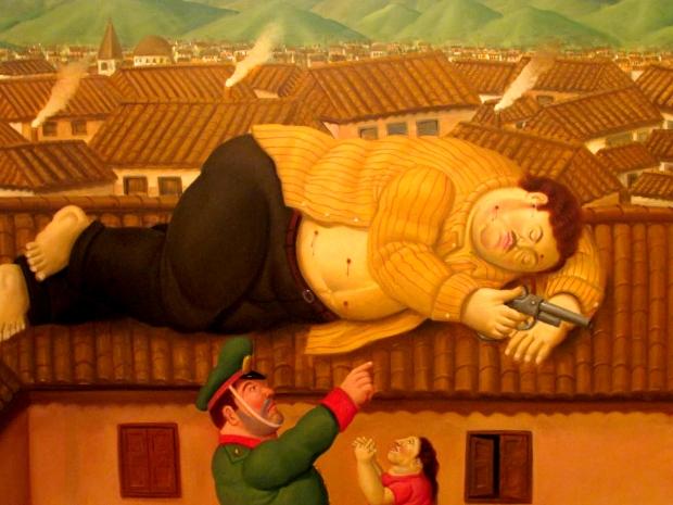 La muerte de Pablo Escobar - Fernando Botero