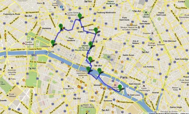 Mapa del recorrido del día 3
