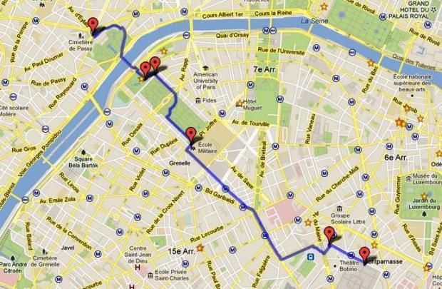 Mapa del recorrido del día