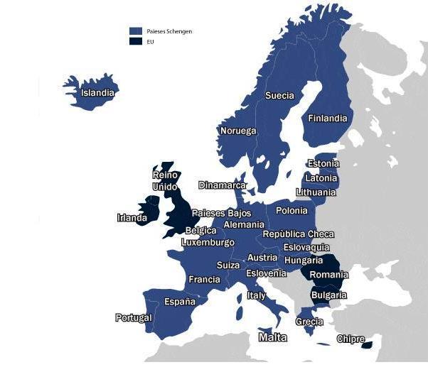 Zona Schengen y Comunidad Europea