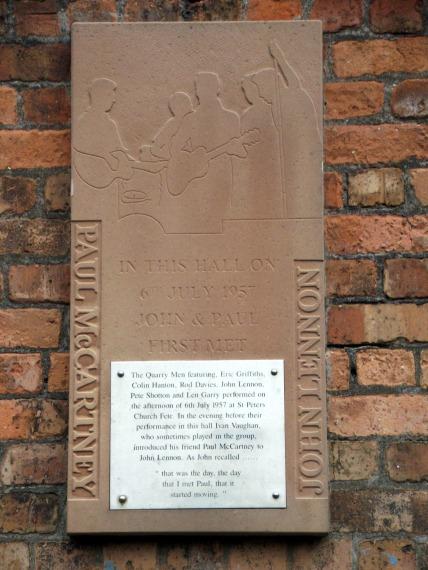 Placa en St Peter's Church