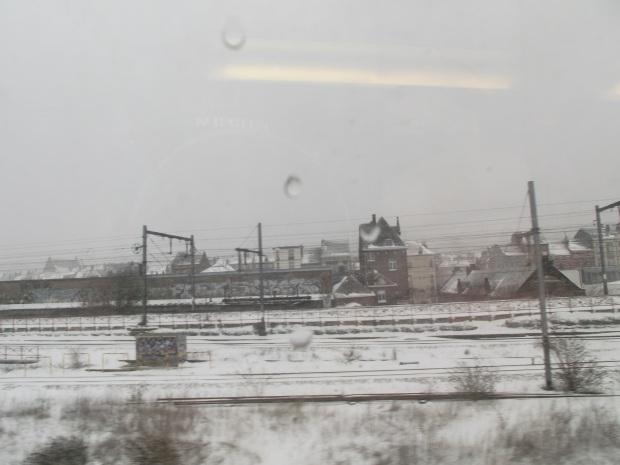 Vista desde la ventana del tren
