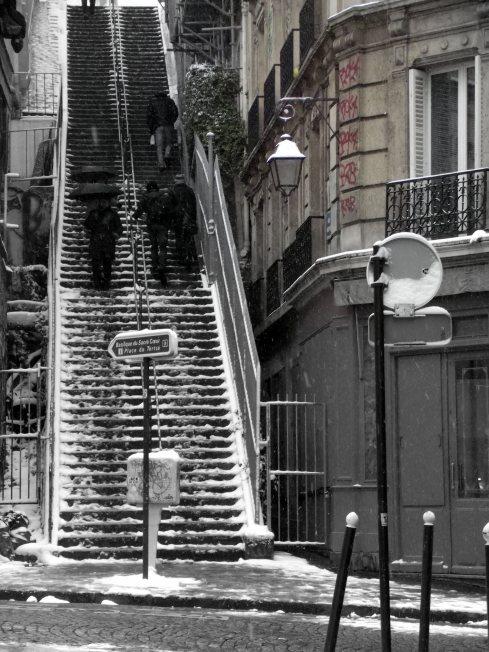 El típico paisaje de escaleras