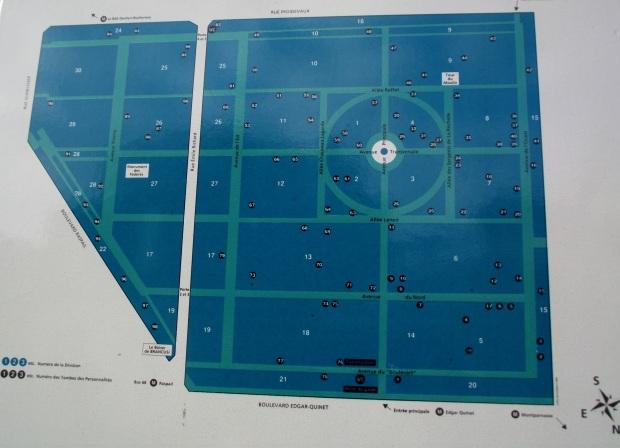 Mapa Informativo sobre la distribución de las sepulturas