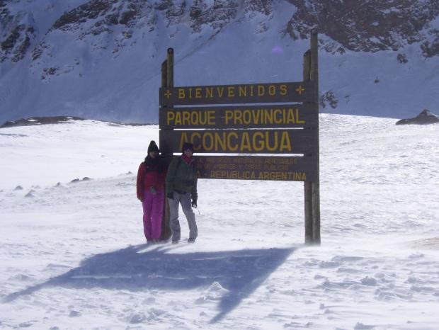 Ingreso al Parque Nacional Aconcagua