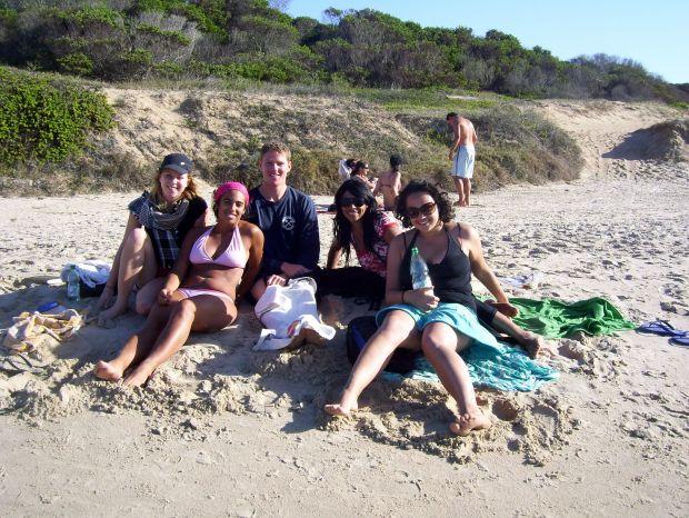 El grupo viajero en Punta del Diablo