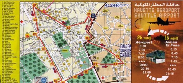 Recorrido del bus de Alsa que sale de la Plaza hasta el Aeropuerto