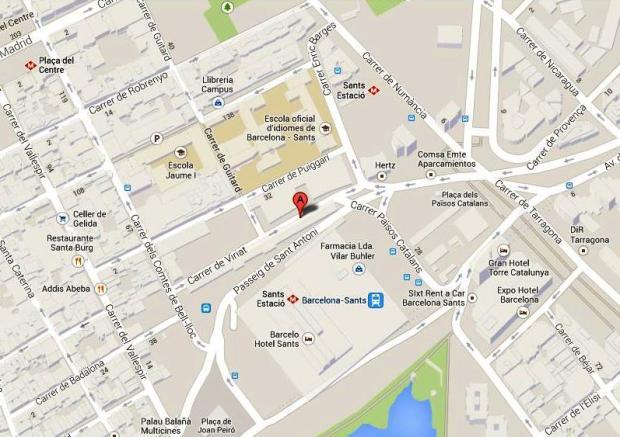 Mapa Estación de Autobuses Barcelona Sants