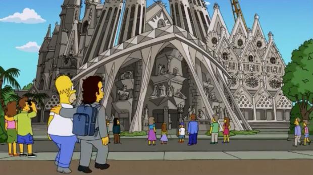 La Sagrada Familia en los Simpsons