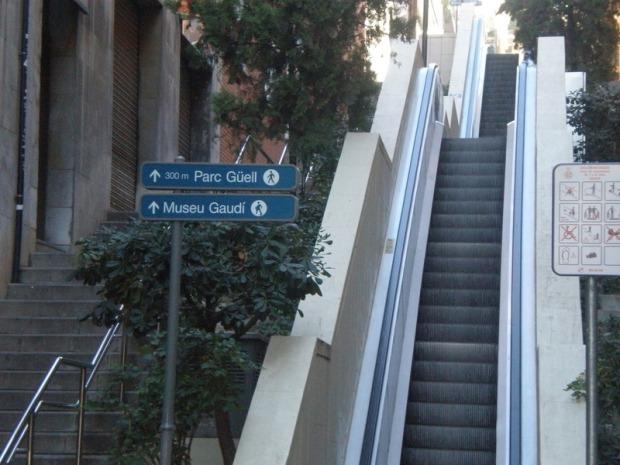 Escaleras mecánicas Park Güell - Fuente: www.skyscrapercity.com