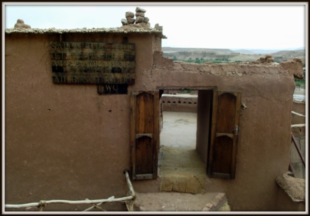 Una casa de té en el interior del ksar
