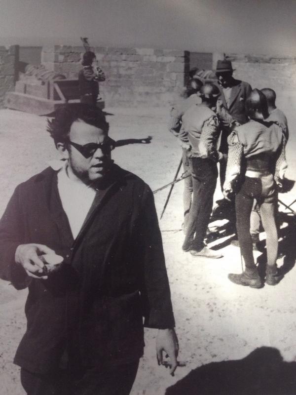 Orson Welles durante la filmación de Othello.
