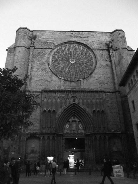 Fachada principal de la iglesia Santa María del Pi