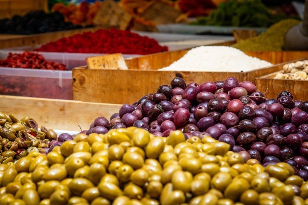 olives, fruits, mediterranean