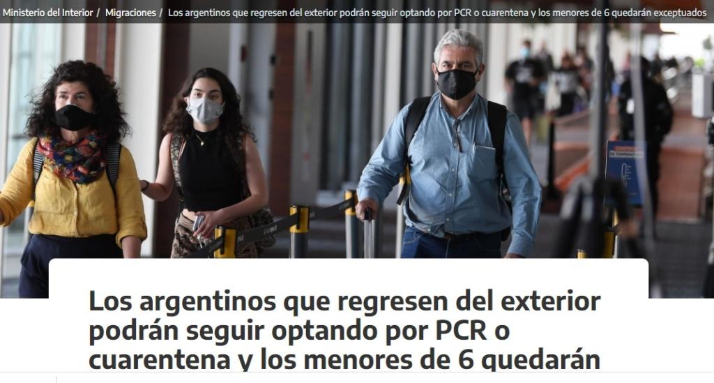 Reapertura de Fronteras y Turismo en Argentina